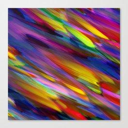 Colorful digital art splashing G398 Canvas Print