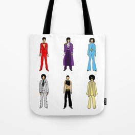 Purple Power Outfits Tote Bag