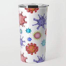 Different kinds of viruses (pattern) Travel Mug