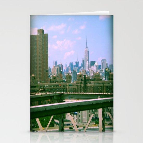 Manhattan from the BK bridge Stationery Cards