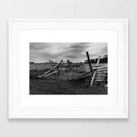 battlefield Framed Art Prints featuring Gettysburg Battlefield by Chee Sim