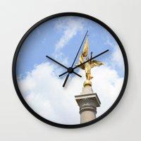 washington dc Wall Clocks featuring Washington DC by Alexandra Nicole