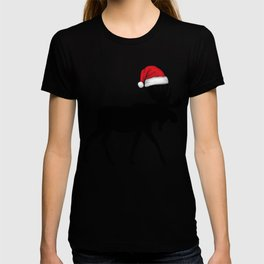 Christmas Santa Moose  T-shirt
