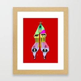 multi mecha go Framed Art Print