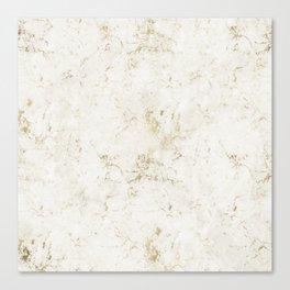 White & Gold Marble Leinwanddruck