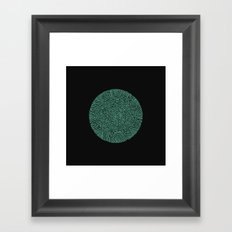 Primitive Green Circle Framed Art Print