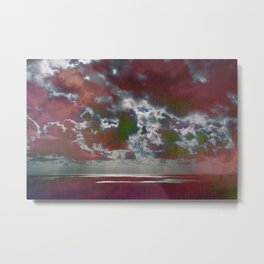 Pink Seas and Clouds Metal Print