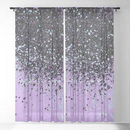 Mermaid Summer Vibes Glitter #2 #shiny #decor #art #society6 Sheer Curtain