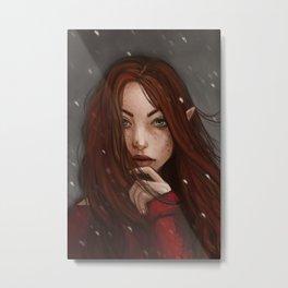 Redheaded Elf Metal Print