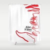 Famous Climbs: Alpe d'Huez 2, Old World Shower Curtain