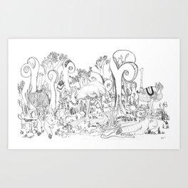 giant ostrich Art Print