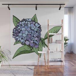 Hydrangea Blue Wall Mural