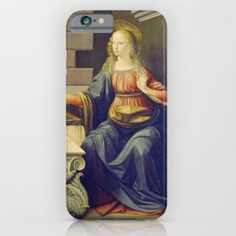 "Leonardo da Vinci ""Annunciation 2."" iPhone Case"