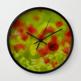 Poppyflower III Wall Clock