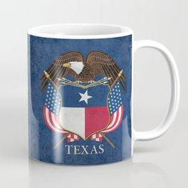 Texas flag and eagle crest - original vintage concept Coffee Mug