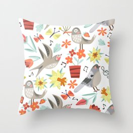 Spring Songs Throw Pillow