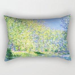 Monet: Bend in the River Epte Rectangular Pillow