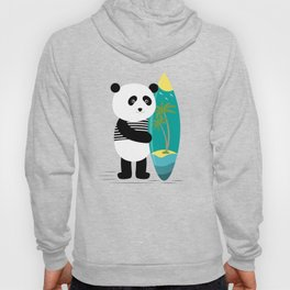 Surf along with the panda. Hoody