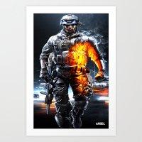 battlefield Art Prints featuring Battlefield 3 by Angelblack