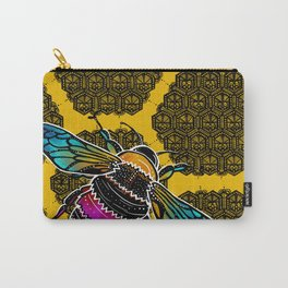 Honeybee lace | Nicole B Roberts Carry-All Pouch