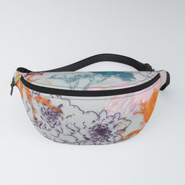 fall floral gray Fanny Pack