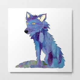 Summer in the Village: Coyote Metal Print