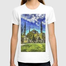 Blue Mosque Istanbul Art T-shirt