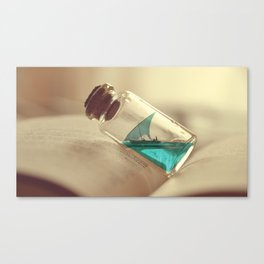 Boat in a bottle Canvas Print
