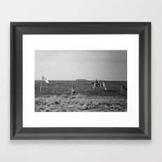 Horse and the rider Framed Art Print