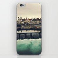 switzerland iPhone & iPod Skins featuring Lucerne, Switzerland by Laura Ruth