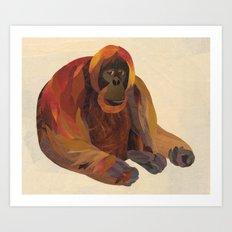 The Orangutan Art Print