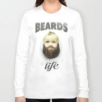 toddler Long Sleeve T-shirts featuring Beard boy by HappyMelvin