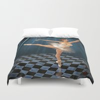 ballerina Duvet Covers featuring ballerina by Ancello