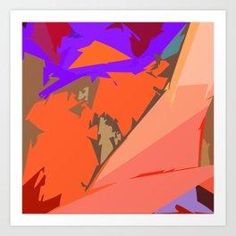 Look Ma! Purple Lights Ahead Art Print