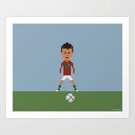 Ronaldo Free kick (Portugal) Art Print