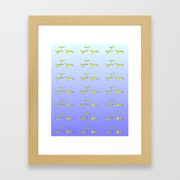 Birds in the blue sky 1-bird,sky,hope,feathers,jaws,eggs,aves,wing Framed Art Print