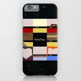 All Good Things - square Minimalist Star Trek TNG The Next Generation 1701 D  startrek  Trektangles iPhone Case