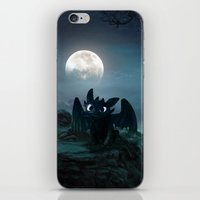 targaryen iPhone & iPod Skins featuring TOOTHLESS halloween by kattie flynn