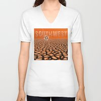 southwest V-neck T-shirts featuring Southwest by Phil Perkins