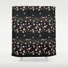 Loose flowing flower Shower Curtain