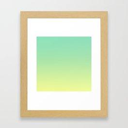 LAKE BY THE SEA - Minimal Plain Soft Mood Color Blend Prints Framed Art Print