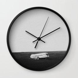 Crashed DC3 Wall Clock