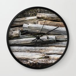 Hand Cut Lumber From Dismantled Log Barn 2 Wall Clock