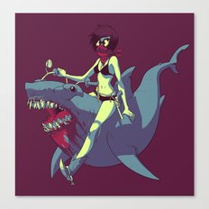 Sharkquestrian Canvas Print