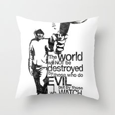 Anonymous and typography quote Throw Pillow