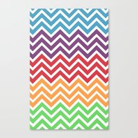 gumball Canvas Prints featuring Gumball Chevron by Wicked Cool Studio