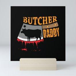 Butcher Boner Slaughter Meat Mini Art Print