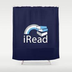 i Read | Book Nerd Slogan Shower Curtain