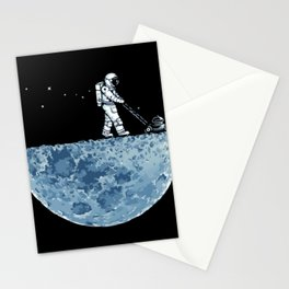 Astronaut on the Moon Stationery Cards