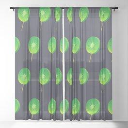 crystal kiwi Sheer Curtain